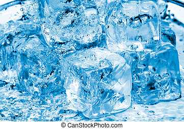 water and icecubes  - icecubes and fresh water