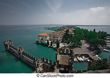 Sirmione - Very beautiful lake with castle (Italy, Lake...