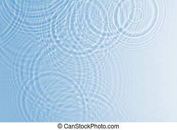 Water ripple background in blue color