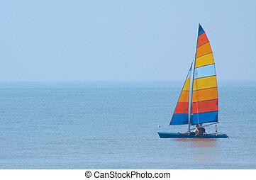 colorido, velero