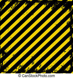 Barricade tape - yellow-black grunge barricade tape