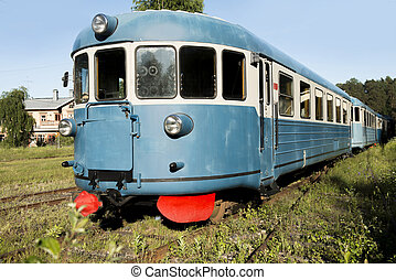 Old rail train - The old train in railway museum in Porvoo...