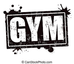 GYM stamp - GYM grunge rubber stamp on white , vector...
