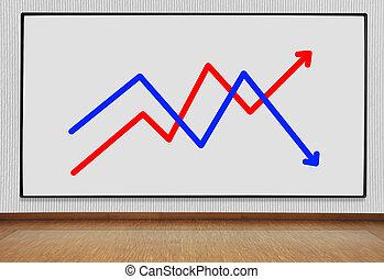 plasma panel with graph - big plasma panel with graph on...