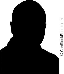 bald man silhouette - silhouette of middle age bald man