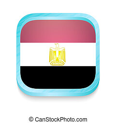 Smart phone button with Egypt flag