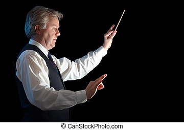 Leading his bussines - Business man conducting his work and...