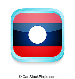 Smart phone button with Laos flag