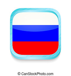 Smart phone button with Rusia flag