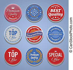 Product promotion buttons and badge