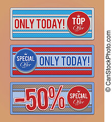 Sale promotion banners.