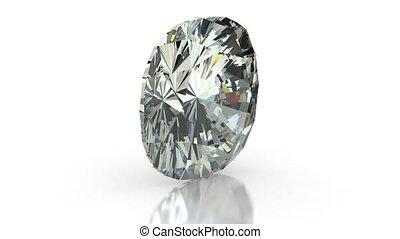 Cushion Cut Diamond - Cushion cut diamond on white...