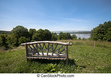 Hudson River View - Poet's Walk Park in Red Hook, NY. and a...