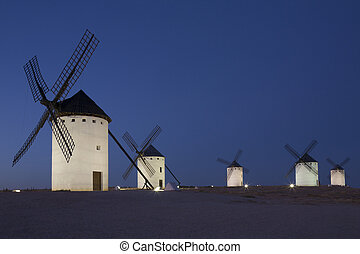 Windmills of La Mancha - Spain - Windmills of Campo de...
