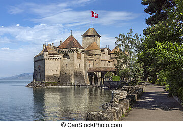 Chateau Chillon - Switzerland - The medieval castle of...