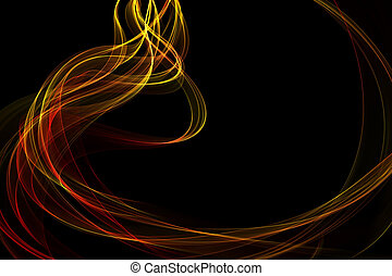 abstract twisted waves - abstract colorful twisted waves on...