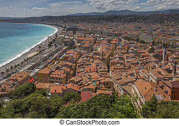 City of Nice - Cote d'Azur - South of France. - The city of...