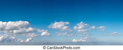 藍色, 全景, 天空
