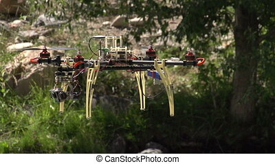Hexa-copter - Radio controlled hexacopter flying machine....