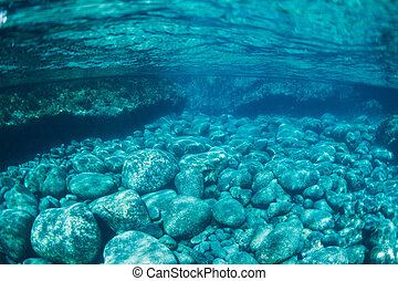 Natural Blue Water Pool Underwater - Natural Blue Water...