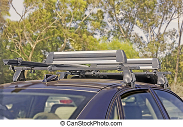 Rugged car roof rack for traveling convenience - Mounted on...
