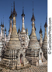 Kakku Temple Complex - Shan State - Myanmar - Rows of Stupa...