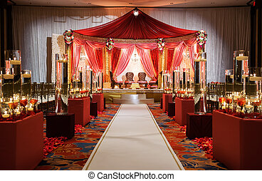 Zeremonie, indische,  mandap,  wedding