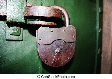 padlock - Strong padlock on a door