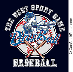PlayBall baseball vector - baseball sport vector for shirt...