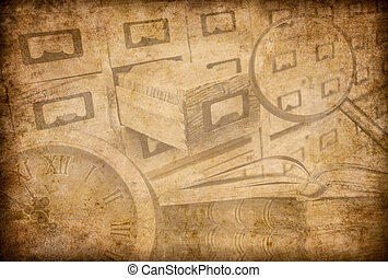 Archive or museum grunge background