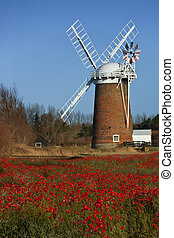 Horsey Windpump - Norfolk - England - Horsey Windpump on the...