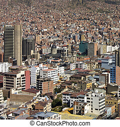 La Paz - Bolivia - South America - The city of La Paz in...