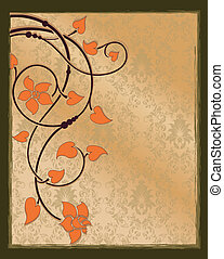 abstract floral invitation card