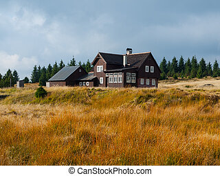 Mountain hut in Jizera mountains Czech Republic