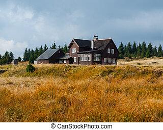 Mountain hut in Jizera mountains (Czech Republic)