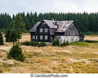 Old mountain hut in Jizera mountains Czech Republic