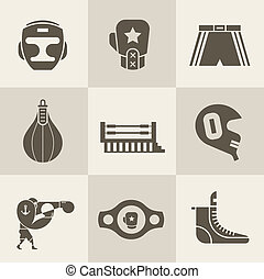 Boxing icons - Vector Boxing icons