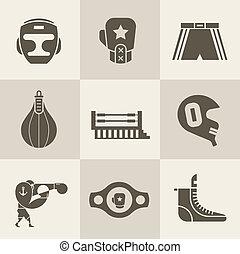 boxe, ícones