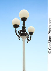 lamp post with blue sky