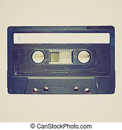 Retro look Tape cassette - Vintage looking Magnetic tape...