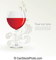 Glass of red wine on a white background
