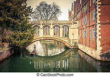 The Bridge of Sigh, Cambridge - The Bridge of Sigh at Saint...