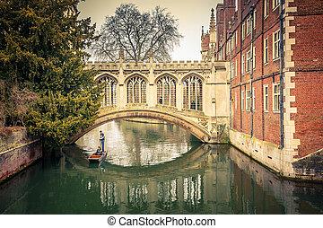 The Bridge of Sigh, Cambridge - The Bridge of Sigh at Saint...