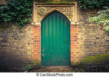 Old door in Cambridge, UK
