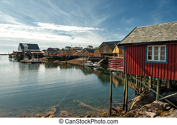 Fishing village at Lofoten - Fishing village Tind at Lofoten...