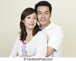 young asian couple - portrait of a young asian couple.