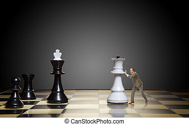 Business strategy - To move the queen. Game of chess