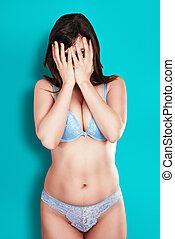Attractive girl in underwear - Sexy girl in underwear...