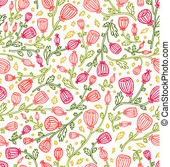 Little pink daisies seamless pattern