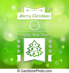 Merry Christmas background for invitation card.